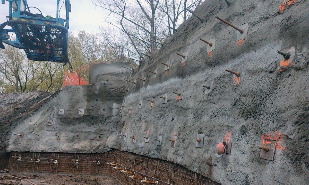 Empire Trail Tunnel Soil Nails and Shotcrete