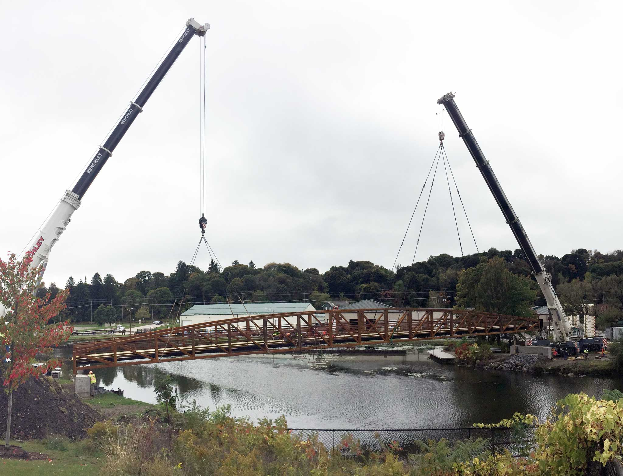 Jamestown Intermodal Transportation Project Pedestrian Bridge