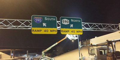 Overhead Sign Structure Improvements in Monroe County