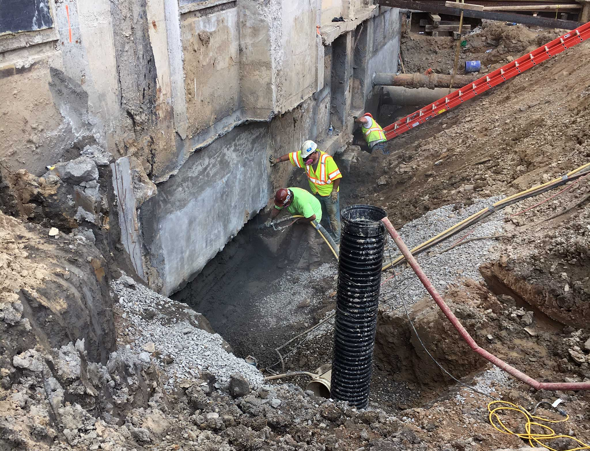 Rochester General Hospital Critical Care - Tunneling and Underpinning